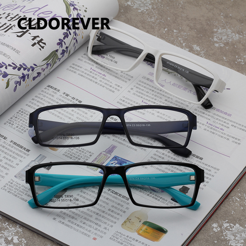 2018 TR90 Super Cahaya Kacamata Frame Pria Optik Kacamata Bingkai Vintage  Persegi Jelas Miopia Kacamata Frame 0a70a07c19