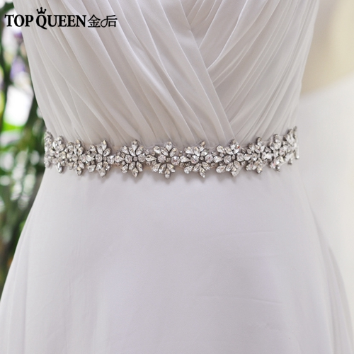 TOPQUEEN FREE SHIPPING S269 Rhinestones Crystals Wedding Belts Wedding Sashes,Rhinestones Crystals Bridal Belts Bridal Sashes.