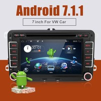 2 Two Din Aux Gps Dual Core Android 4 4 Car Dvd Player TV For VW