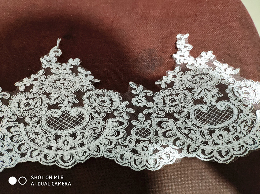118 quot Long 98 quot Wide One Layer Lace Bridal Veil Cathedral Length Wedding Veils with Metal Comb in Bridal Veils from Weddings amp Events