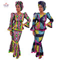 2017Traditional African Clothing African Dresses for Women Print Wax Women Set African Dashiki Long Skirt Plus Size 6XL WY017