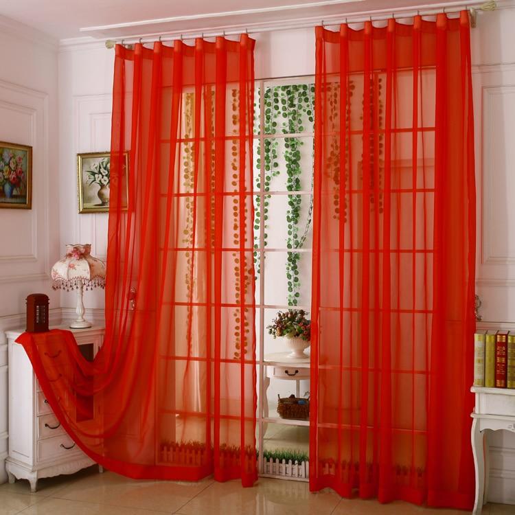 Rideaux de Jalousie de couleur rouge solide pour salon rideaux ...