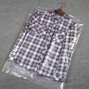 Image 4 - Disposable Transparent Dustproof Cover Plastic Hanging Bag for Clothes Garment Costum Suit Coat Protector Thickness 0.06mm AC027