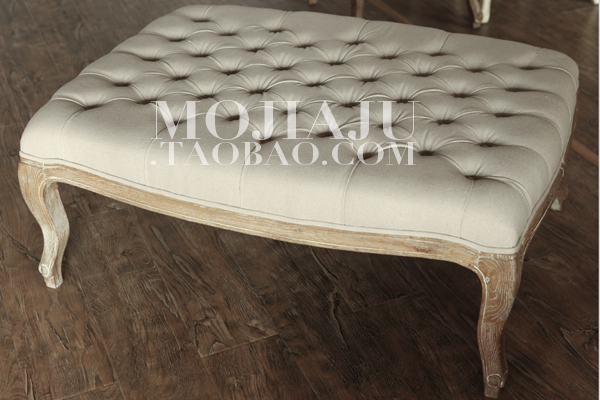 Delightful European Pastoral French Classical Louis XV Style Soft Bag Commoner Button  Linen Sofa Ottoman Coffee Table In Coffee Tables From Furniture On  Aliexpress.com ...