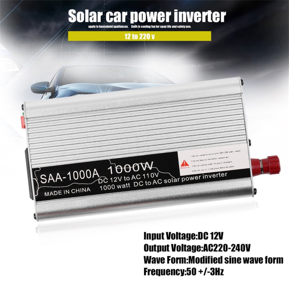 500W/800W/1000W/1500W Modified Sine Wave Car Auto Power Inverter Vehicle Voltage Inverter DC12V To AC110V Power Inverter Adapter