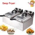Friteuse électrique grande capacité Machine à friture Double cylindre frite Machine SZ-6BX2