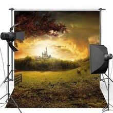 Cenários de vinil Para A Fotografia Castelo de Cinderela Floresta Cênica Novo Tecido de Flanela Amante Casamento do Fundo Da Foto Para estúdio