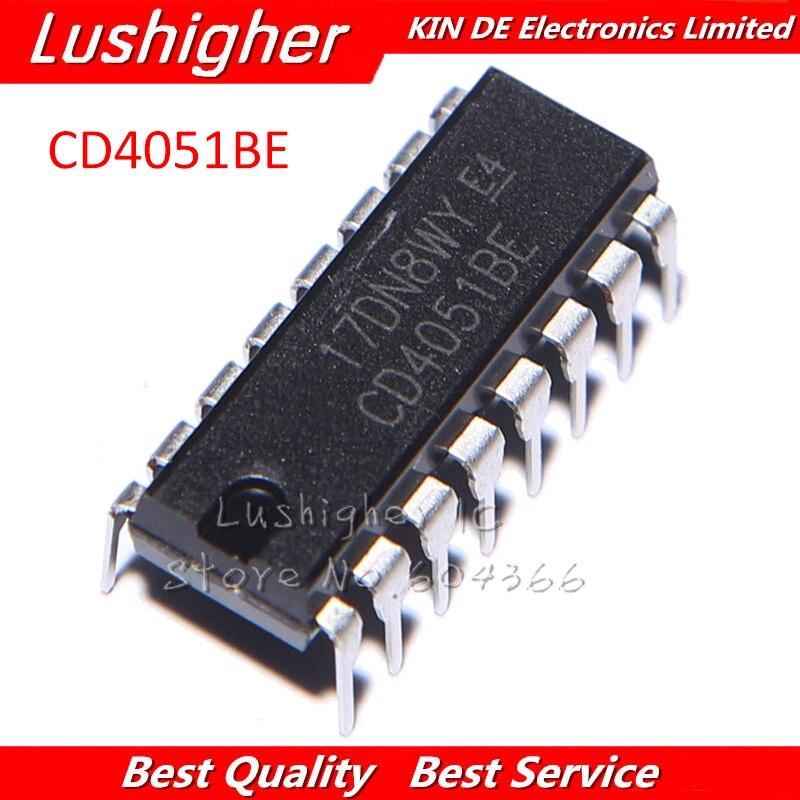 Nuevo 10 un CD4051BE CD4051 DIP16 DIP-16 CD4051 multiplexor//Dem ultiplexer IC