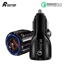 Car USB Charger Quick Charge 3.0 3.1A Mobile Phone Charger 2 Port USB Fast Car Charger for IPhone Samsung Tablet Car-Charger(China)