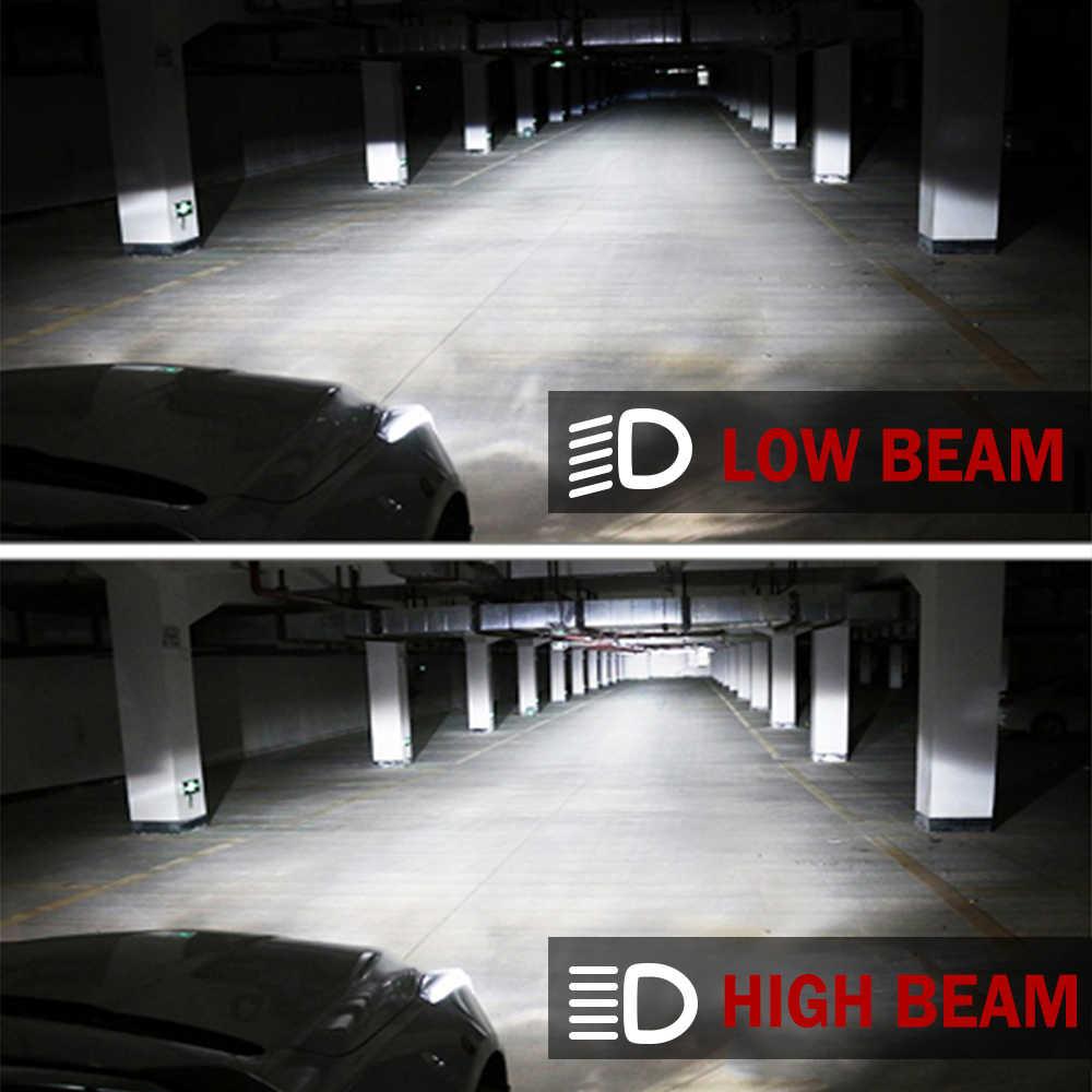 BraveWay H4 светодиодный объектив фары лампы для автомобиля без ошибок Atuo лампы 12 В светодиодный CANBUS светодиодный H4 лампы с мини-проекторы 5500K свет