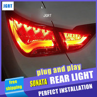 Auto Light StyleTail Lamp for Hyundai Sonata taillight assembly Sonata8 Rear Lamp Automobiles drl rear lamp cover signal+brake.