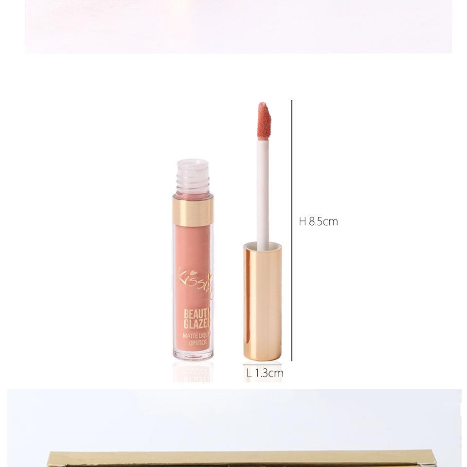 BEAUTY GLAZED 6 Colors Matte Lipstick Set Waterproof Long Lasting Lip Gloss Nude Velvet Pigment Batom Women Fashion Lip Makeup