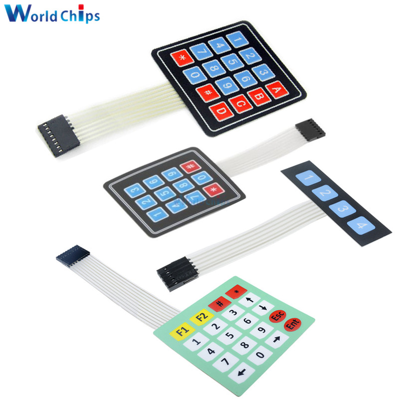 New 4 12 16 20 Key 4*4 Membrane Switch Keypad 1x4 3x4 4x4 4*5 Matrix Array Matrix Keyboard For Arduino Smart Car Back To Search Resultselectronic Components & Supplies