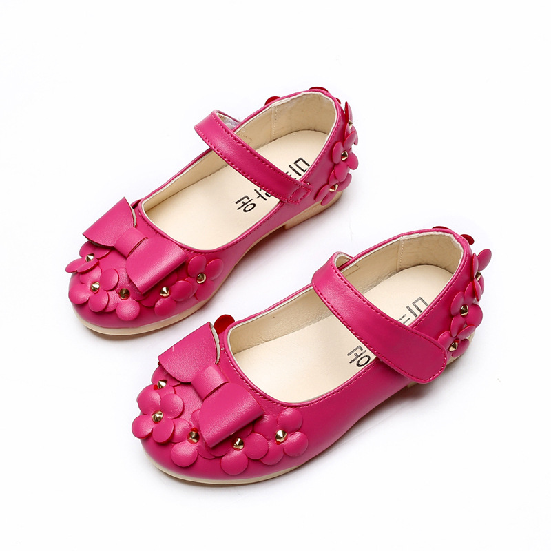 Children Shoes Girls Sandals Summer Cut Bow Princess Sandal Flowers Chaussure Fille Rivets Girls Shoes Sandals For Girl Footwear