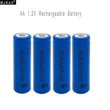 4pcs/lot AA Ni-MH 3200mAh Battery 2A Batteries 1.2V AA Rechargeable Battery NI-MH battery for Remote control Toys LED lights vb 7 2v 5000mah ni mh rechargeable battery pack 6 sc1 2v 5000mah super power remote control car nickel metal hydride battery