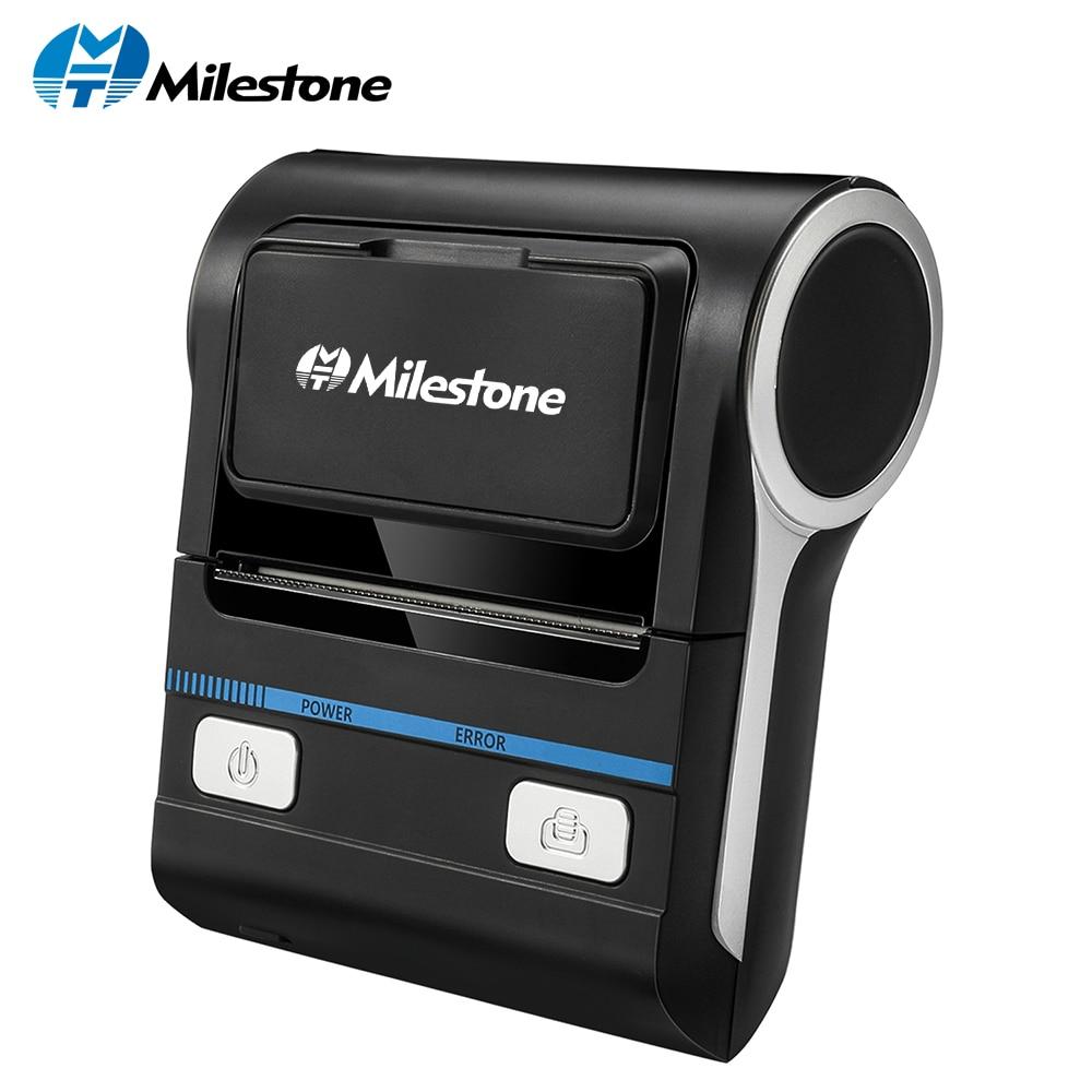 Milestone Thermal Printer POS Bluetooth Android 80mm Thermal Receipt Printer Portable Wireless Printing Machine MHT-P8001