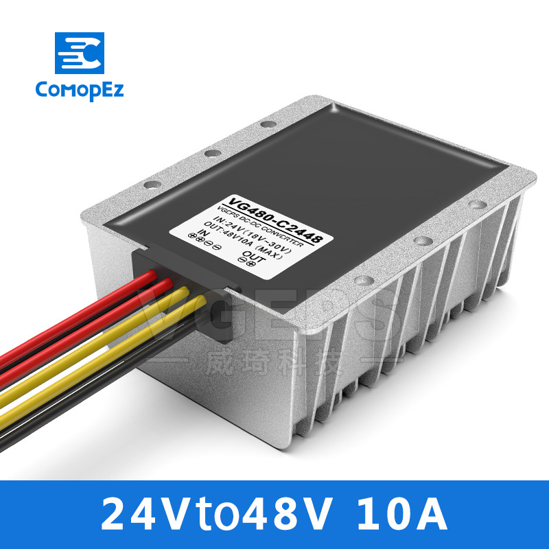 24V à 48V 10A DC convertisseur DC abaisseur Buck régulateur tension transformateur 18-30V à 48V voiture alimentation Module Swing Booster
