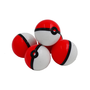 Image 1 - 20 шт. 6 мл силиконовые концентраты контейнер шар или антипригарный воск Pokeball масло крем баночки Dab & бутановое масло или гладкий масло баночка
