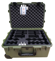Tricases factory USA military standard IP67 waterproof shockproof PP hard plastic tool case with custom coded lock M2620