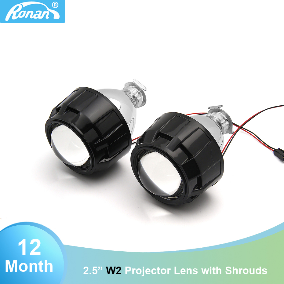 2018 New Car Styling 2.5 WST Bi xenon projector Lens for H1 Xenon/Halogen Bulbs fits H4 H7 headlight For Focus Opel Astra