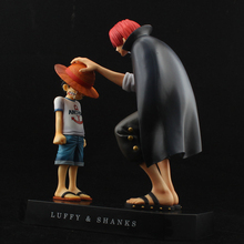 17 5cm One Piece action figures Anime Straw Hat Kry Luffy Shanks red hair ornaments gift
