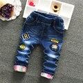 Niños jeans niños suaves pantalones vaqueros de mezclilla niño pantalones largos ocasionales de los niños ropa de niños de alta calidad pantalones vaqueros pantalones tamaño 2-6 T