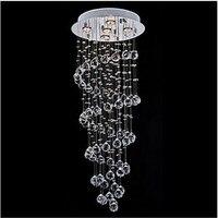 Clear Crystal K9 Lighting Pendant Modern LED Lamp 5 Lights Chandeliers 110 220V HOTEL Luxurious pendant lamp