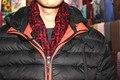 Мужчины в Asia'stly шлифованный шелк шарфы, Размер : 170 x 50 красный геометрические узоры, День отца подарки