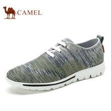 Верблюд 2016 модная повседневная обувь мужские удобные дышащие Марля хлопчатобумажных обувь сетки мужской ручной работы Летняя обувь мужская