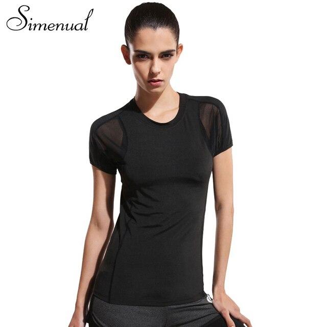 2016 Athleisure активные футболки для женщин сетки сращивания sexy тонкий черный летние топы мода фитнес выдалбливают майка clothing