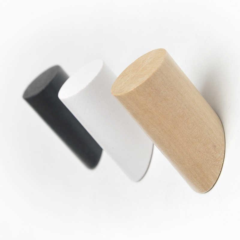天然木ハンガーウォールマウントコートフック装飾キーホルダー帽子スカーフハンドバッグ収納ハンガー寝室ラック
