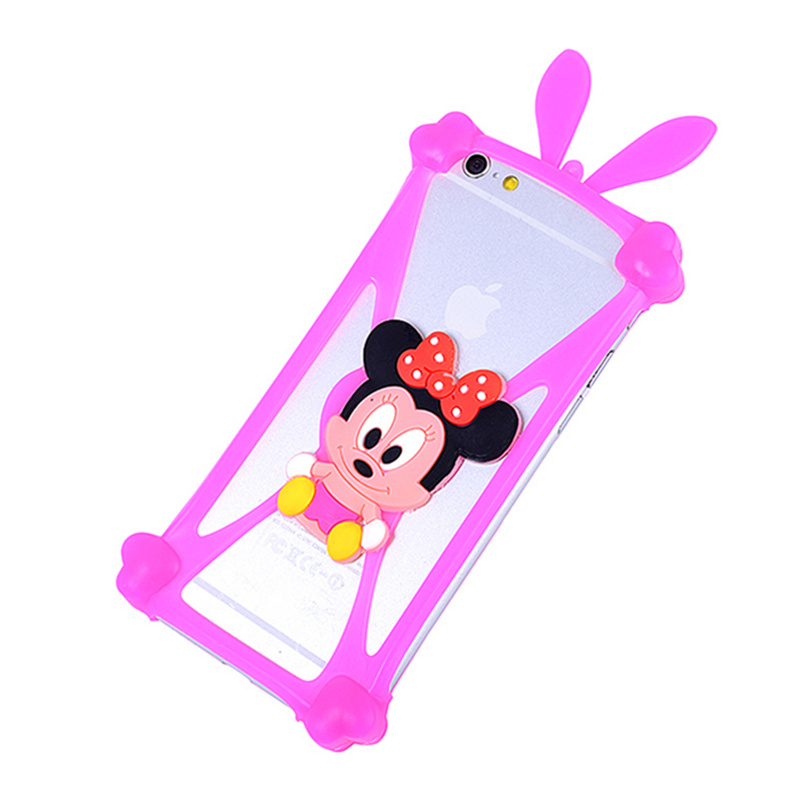 Cute Cartoon Silicone Universal Cell Phone Cases Fundas For Prestigio 3400 3530 5455 3450 4055 5450 5454 Duo Pap 7500 Cover