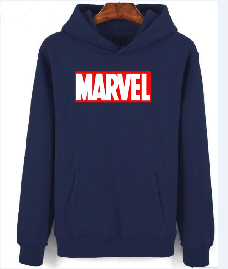 MenS white Hoodies 2018 Autumn New Marvel Hoodies Fashion Printing Cotton 100% Sweatshirts Men Hoody