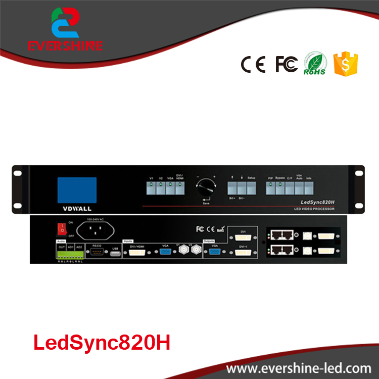 VDWALL Efficient Processing Processor LedSync820H/LedSync850M Professional Led Video Processor for lager Led Display usage wavelets processor