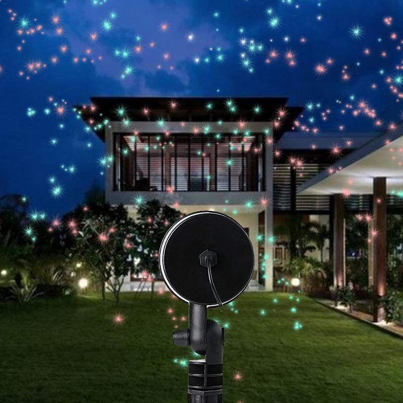 Outdoor Laser Projector Sky Star Spotlight Showers Landscape DJ Disco Lights R&G Garden Lawn Christmas Party 40