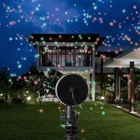 Zewnętrzny projektor laserowy gwieździste niebo reflektor prysznice krajobraz DJ światła dyskotekowe R & G na trawnik ogrodowy Christmas party 40 w Oświetlenie sceniczne od Lampy i oświetlenie na