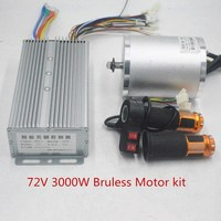 72V 3000W electric motor With BLDC Controller 80A 3 speed throttle For Electric Scooter ebike E Car Engine Motorcycle Part