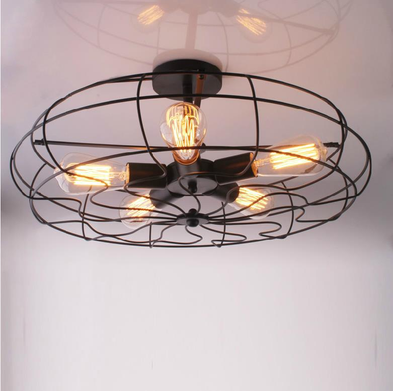 American Country Ceiling Lights Industry & Creative Personality Retro Ceiling Lamp Balcony Continental Vintage Designers lights american country style small balcony ceiling light diameter 400mm