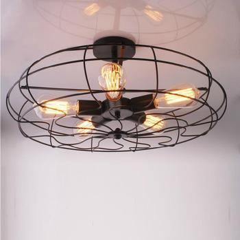 American Country Ceiling Lights Industry & Creative Personality Retro Ceiling Lamp Balcony Continental Vintage Designers lights