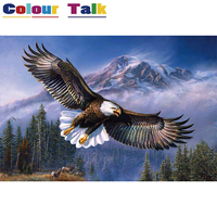 Animals DIY Painting By Numbers Kits Picture Paint On Canvas Coloring Painitng By Numbers For Home