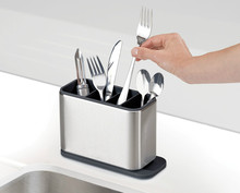 15%,Surface Stainless-Steel Cutlery Drainer with easy-drain spout kitchen Storage