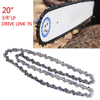 2pcs 20''Chainsaw accessories Chain Blade Wood Cutting Chainsaw Parts 76 Drive Links 3/8 Pitch Chainsaw Saw Mill Chain
