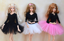 4Pcs lot Handmade Mini Sexy Evening Party Gown Mix Style Lace Ballet Dress Bubble Skirt Clothes