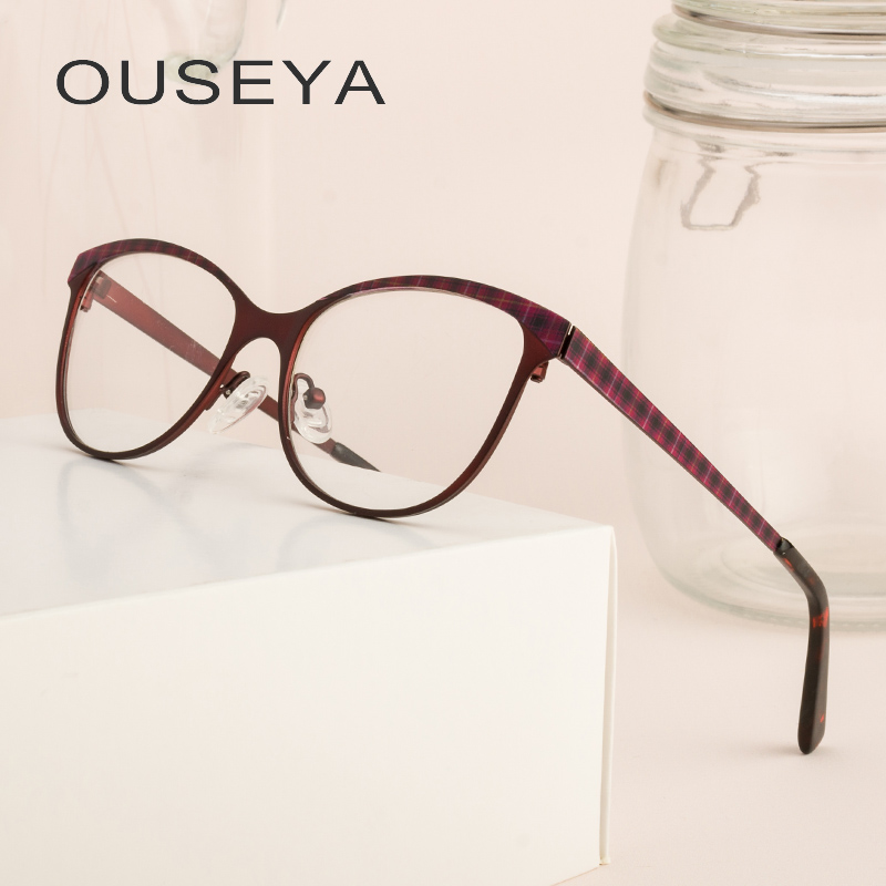 Alloy women's spectacle frames fashion vintage trendy clear high quality transparent retro glasses women #ml0056