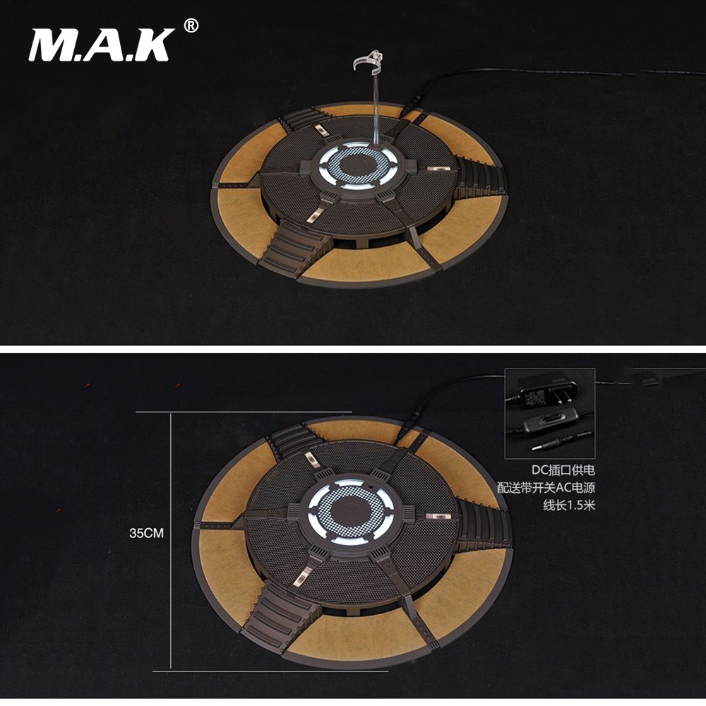 1/12 Scale Action Figure Accessory Iron Man Toni Debugging Round Platform Model for 12 inches Action Figure Body