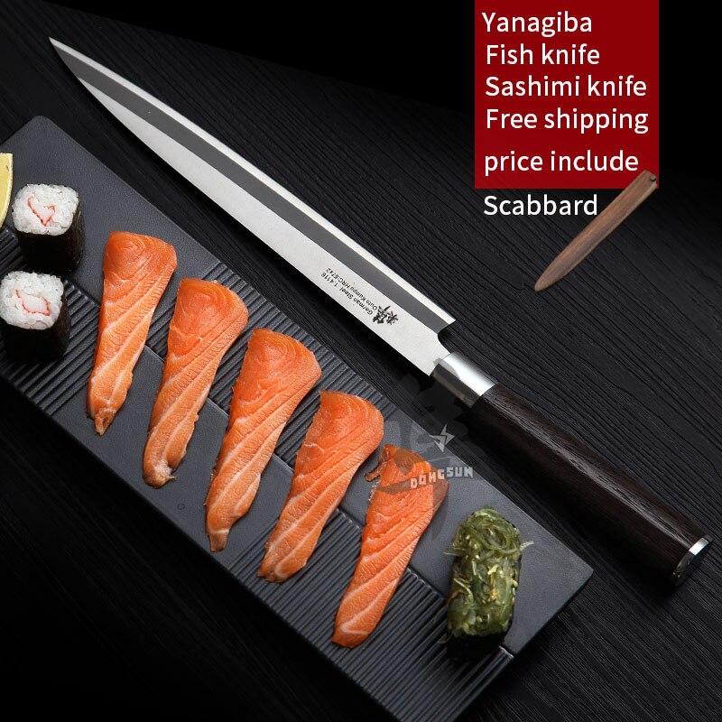 Japanischen sashimi messer Yanagiba Filetieren Messer Sushi Deutschland importe 1,4116 stahl herstellung