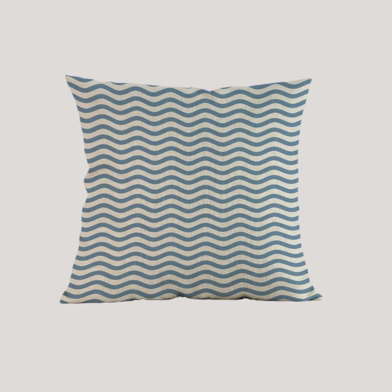 Estilo marino estilo mar tejido azul rosado navegación Funda de - Textiles para el hogar - foto 5