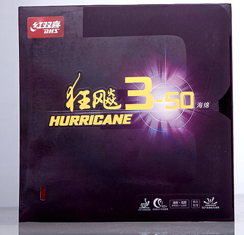 DHS Hurricane 3 50 3 50  sponge Pips in (PingPong) Rubber With Sponge Malong Xuxin backhand