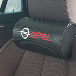 Image 1 - car neck pillows pu leather single headrest  filled fiber car pillow for OPEL Corsa Insignia Astra Antara Meriva Zafira OPC
