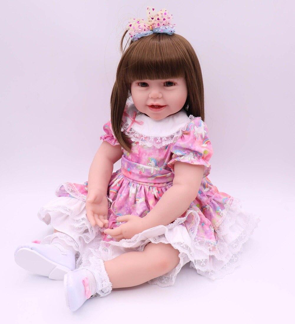 POPPENHUIS 60 cm zachte doek body levensechte peuter meisje met mooie prinses rok beste kids playmate siliconen reborn baby pop-in Poppen van Speelgoed & Hobbies op  Groep 3